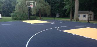 Full backyard basketball court DeShayes Dream Courts