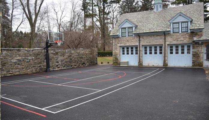 Before and After Driveway Multi-Use Court
