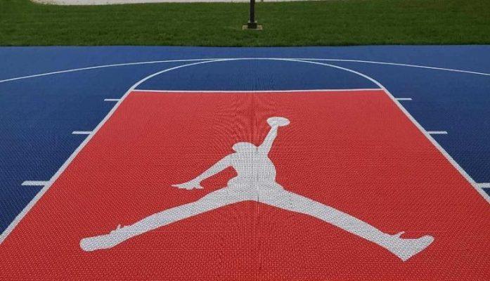 Michael Jordan Jumpman Basketball Court Stencil Sale