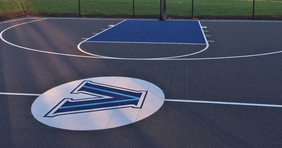 custom-Villanova-basketball-court-DeShayes-Dream-Courts