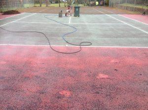 pressure-wash-tennis-court